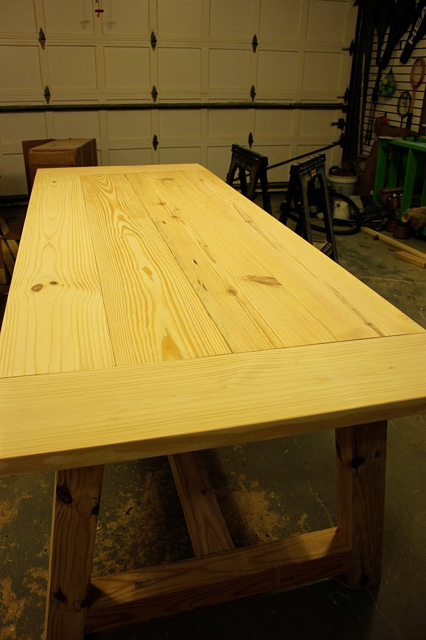 how to get a smooth finish on table top