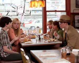 Super 8 kids eating at a diner