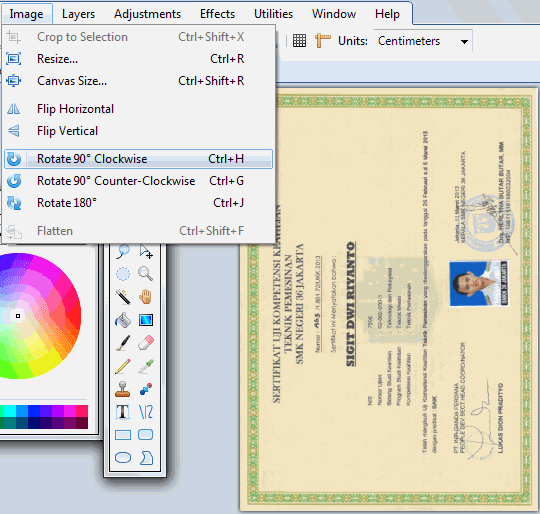 Cara mengurangi ukuran piksel gambar