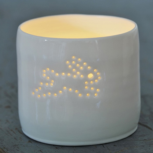 My Owl Barn Luna Light Ceramic Tea Light Holders