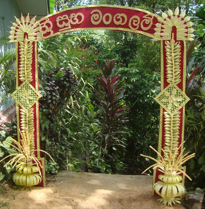 Gokkola thorana for Art decoration sri lanka