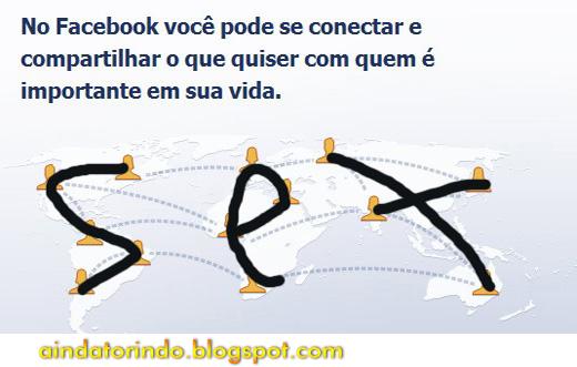 Mensagem subliminar no Facebook