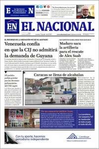 07/07/2020      PRIMERA PAGINA DIARIO DE VENEZUELA
