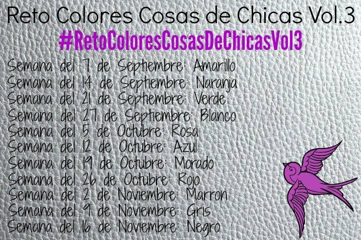 Reto Colores Cosas de Chicas Vol.3