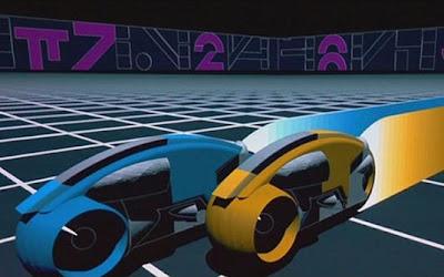 'Tron' (1982) Moto: Lyght Cicles (Animação) Ator: Jeff Bridges
