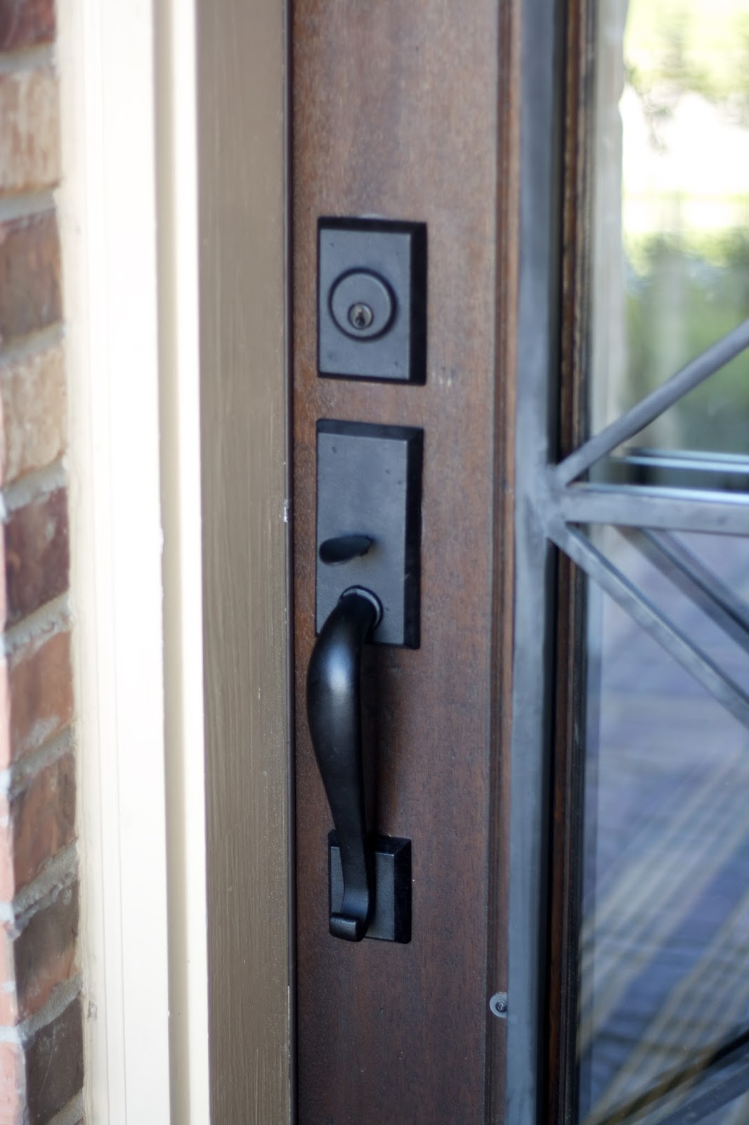 The little cottage on the pond front door hardware - Hinge placement on exterior door ...