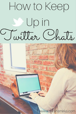 How to keep up in Twitter chats using Hootsuite social media automation software | Sarah Smirks | Keywords:  marketing, social media, marketing automation, social media automation, Twitter Chats