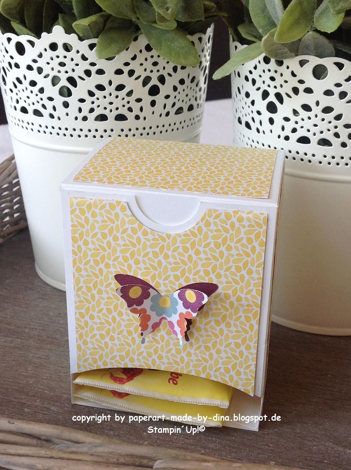 Sch nes aus papier handgemacht teebeutelspender tutorial - Geschenke pinterest ...
