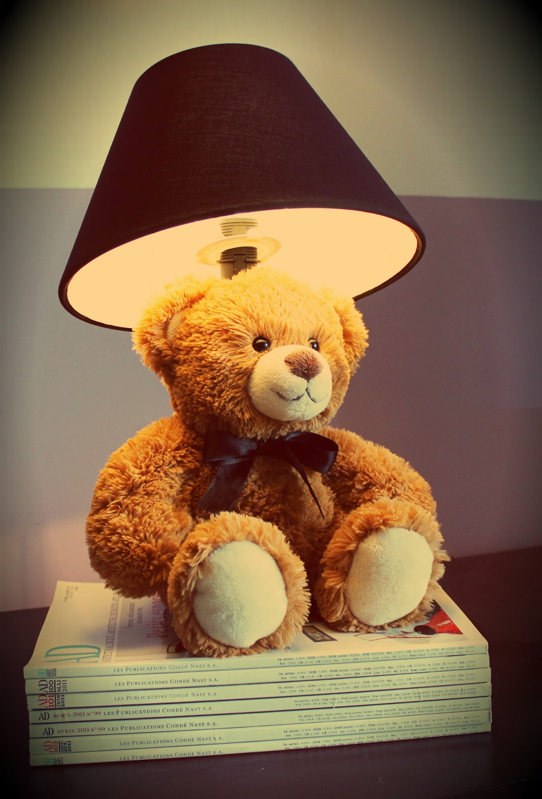 divin 39 id le blog d co lampe enfant teddy bear r alisation divin 39 id teddy bear lamp children. Black Bedroom Furniture Sets. Home Design Ideas