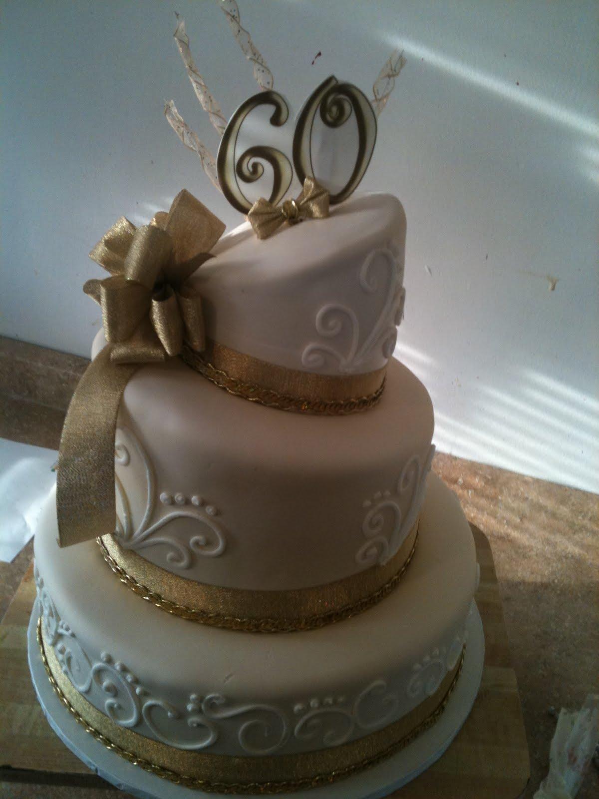 Hectors Custom Cakes 60th Birthday Gold Edition Topsy Turvy