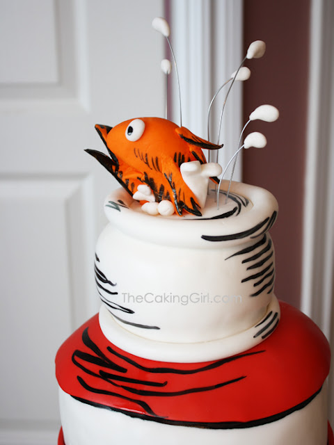 sculpted cat in the hat cake