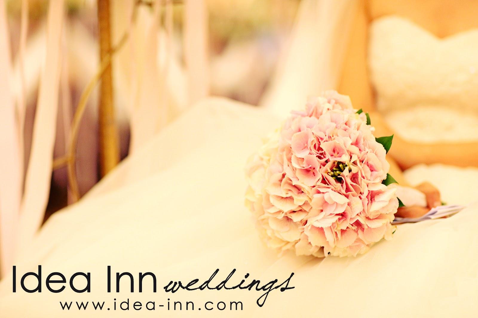 wedding hand bouquet pink hydrangea
