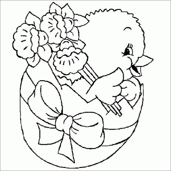 Vari disegni da colorare di pasqua ,dalle uova ai cesti,ai coniglietti