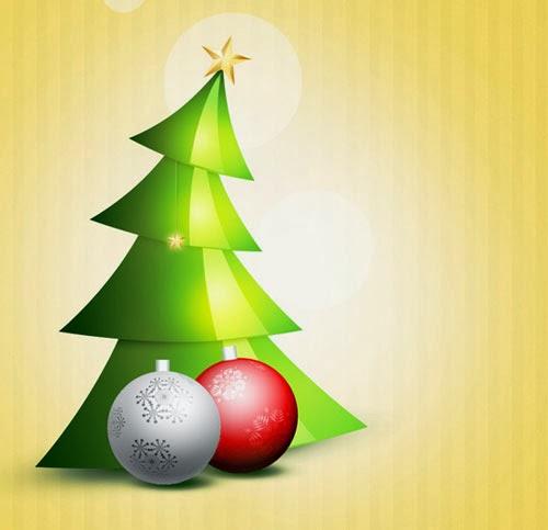 Christmas Tree and Glossy Balls