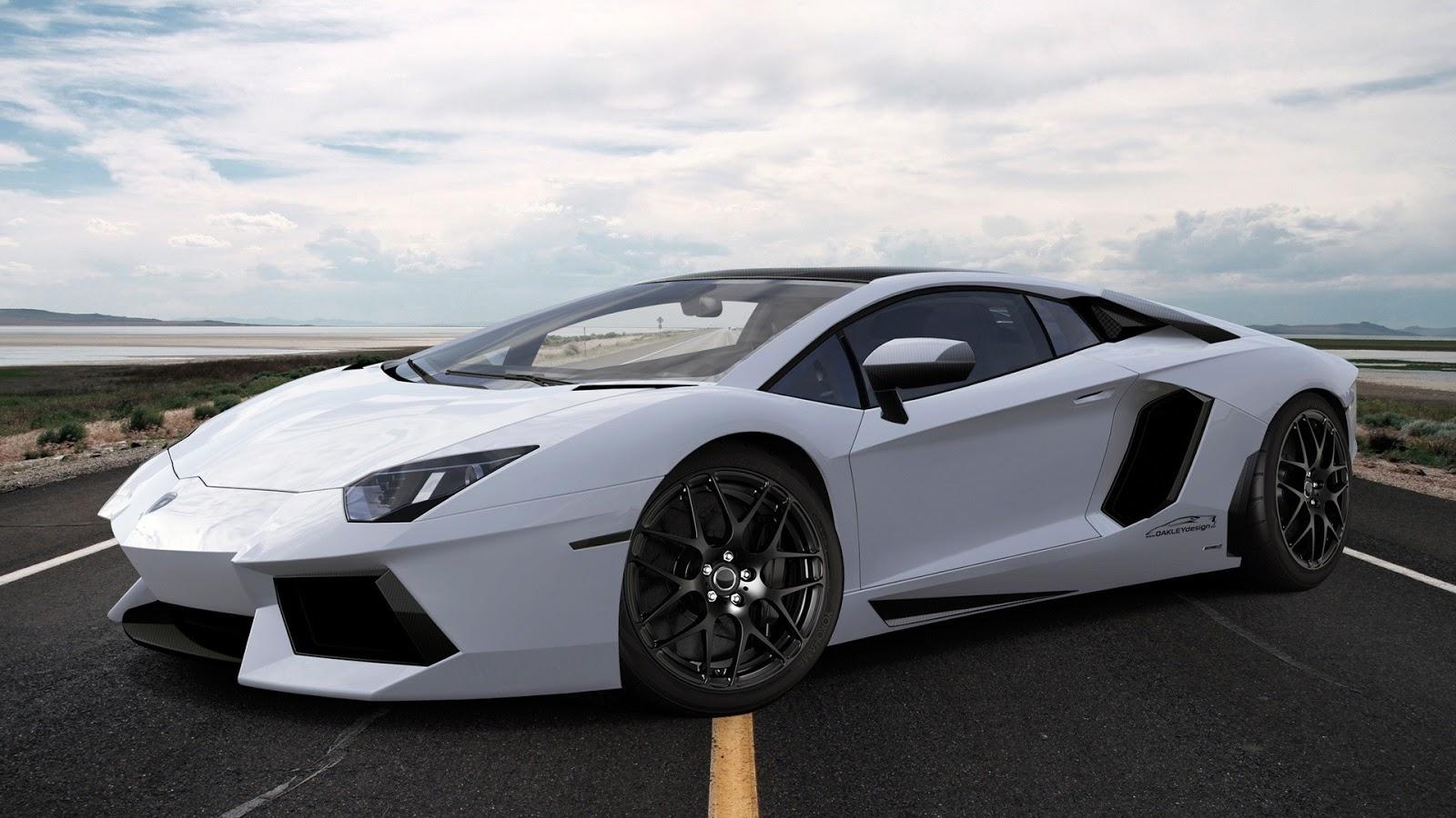 White Lamborghini on Highway