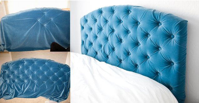How To Make A Queen Size Tufted Headboard