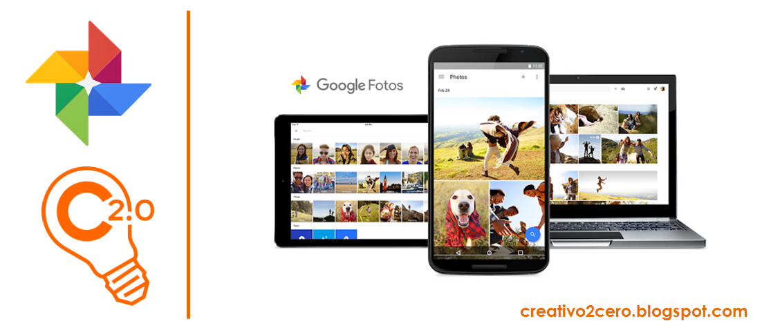 Google Fotos en dispositivos moviles, tablets y ordenadores