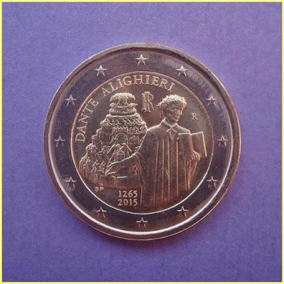 Italia 2015 2 Euros Dante Alighieri