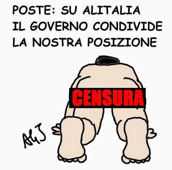 Poste, Alitalia, Governo