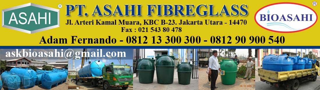 Septic Tank, STP, IPAL, PT Asahi Fibreglass, Rooftank, Tangki Air, Portable Toilet, Atap, Talang