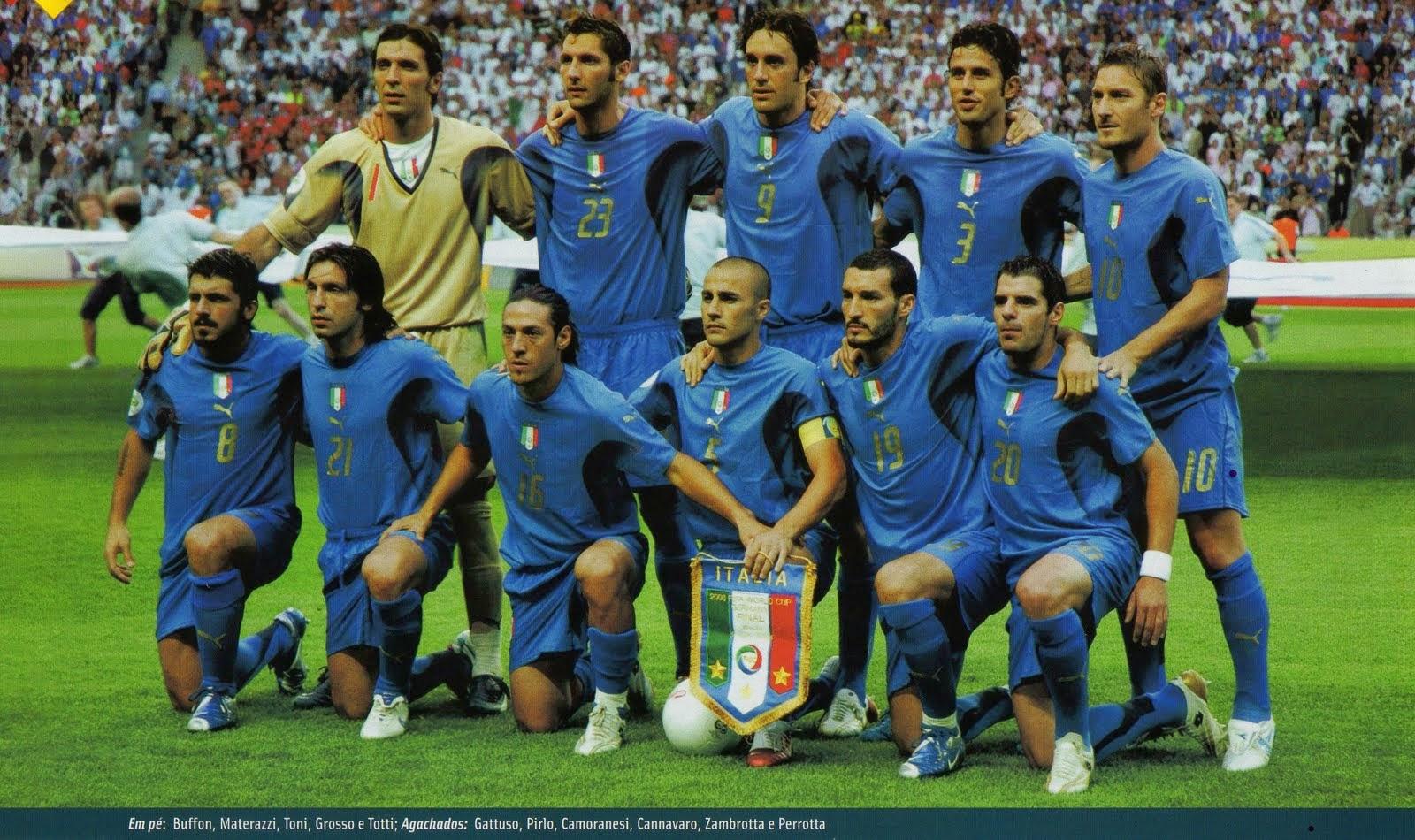 Seleção Itália tetracampeã copa do mundo 2006