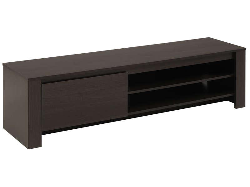Meuble tv alinea wenge meuble tv for Meuble bas de television