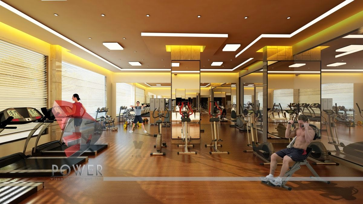 Gymnasium interior design