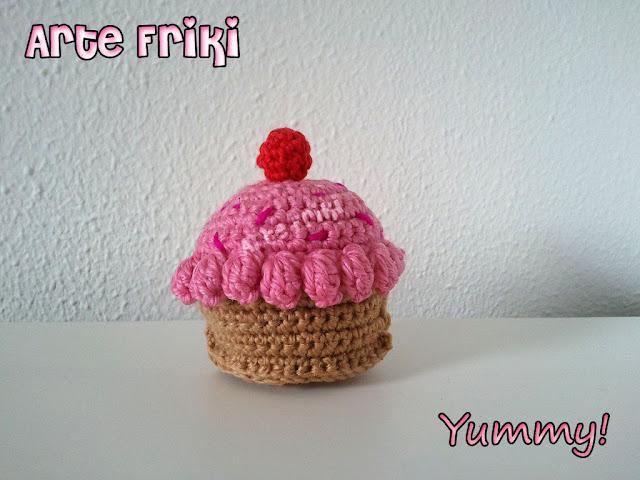 cupcake pastel amigurumi crochet ganchillo