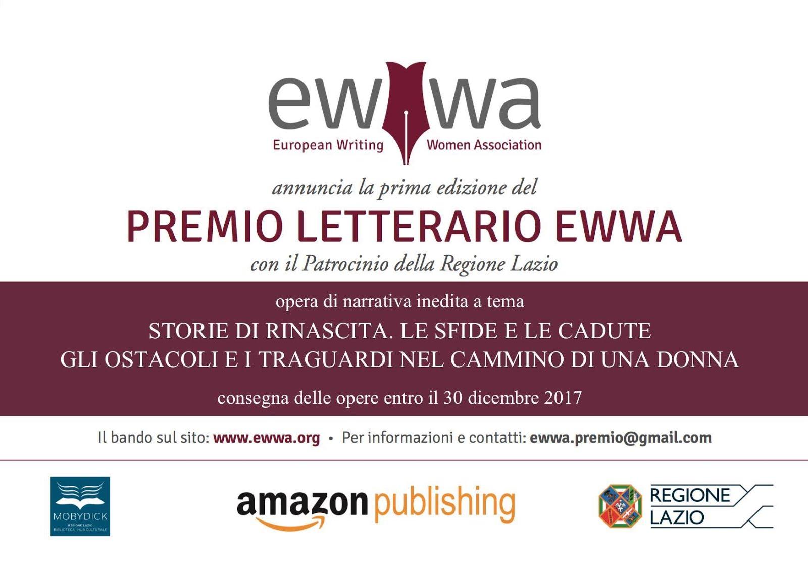 PREMIO LETTERARIO EWWA  Prima Edizione