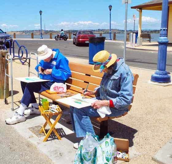 Concord artists plein air painting Benicia waterfront