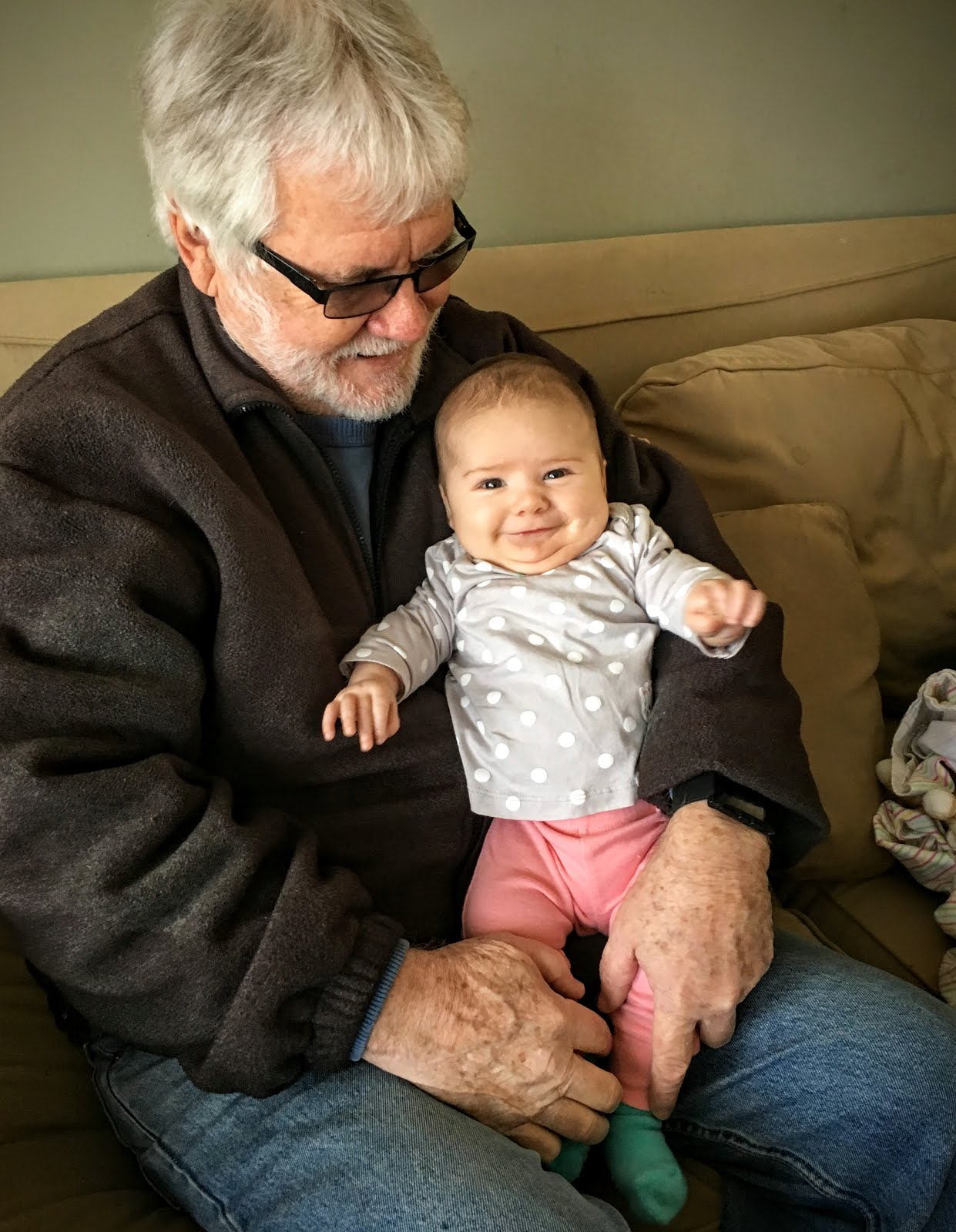 Grandpa & Great-Granddaughter Autumn