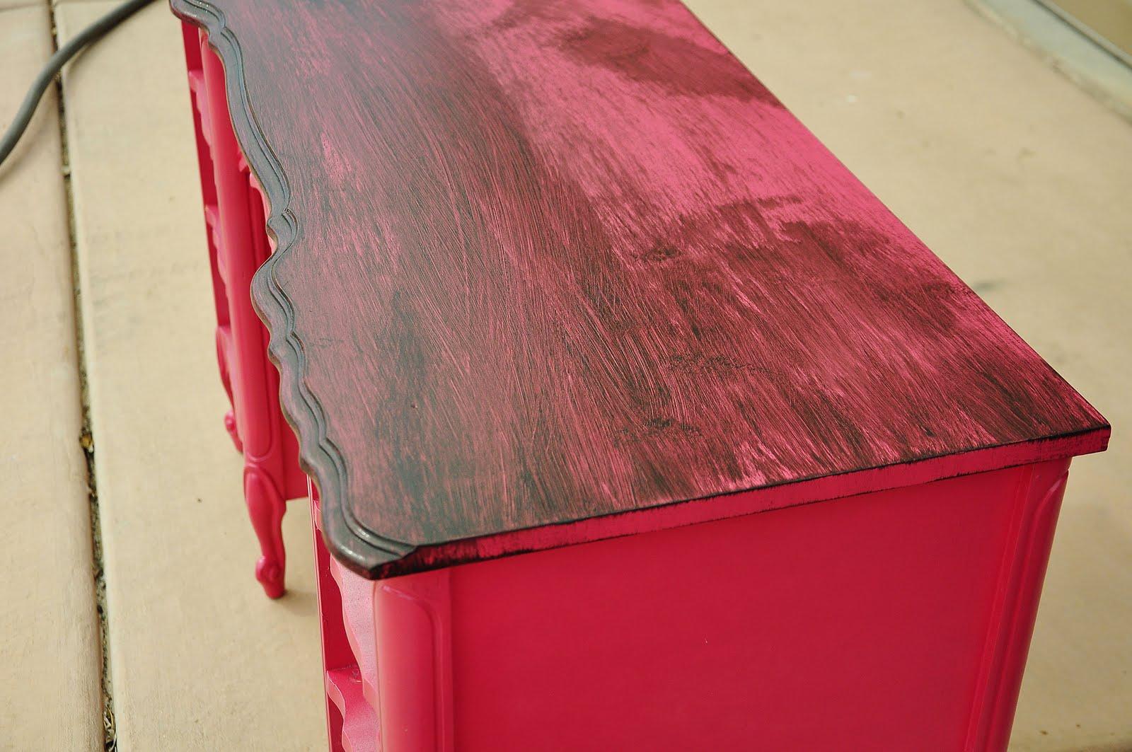 Refinished Pink Desk Tips and Tricks