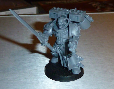 Grey Knight Shoulder Pad Painting