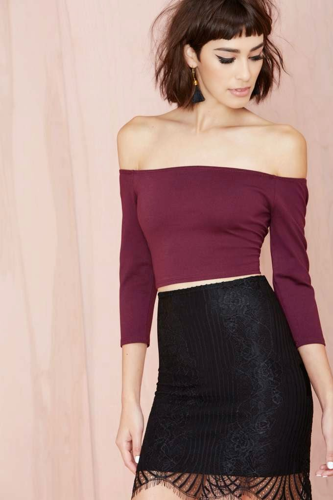 Nasty Gal Courtney Crop Top by: NastyGal @NastyGal.com