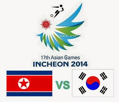 Jadwal & Hasil Pertandingan Korea Utara Vs Korea Selatan, Babak Final Asian Games 2014