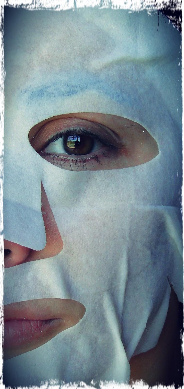 La máscara para la persona de las bayas rojas del Norte de los granos