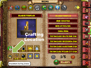 Crafting Tips in Wizard101