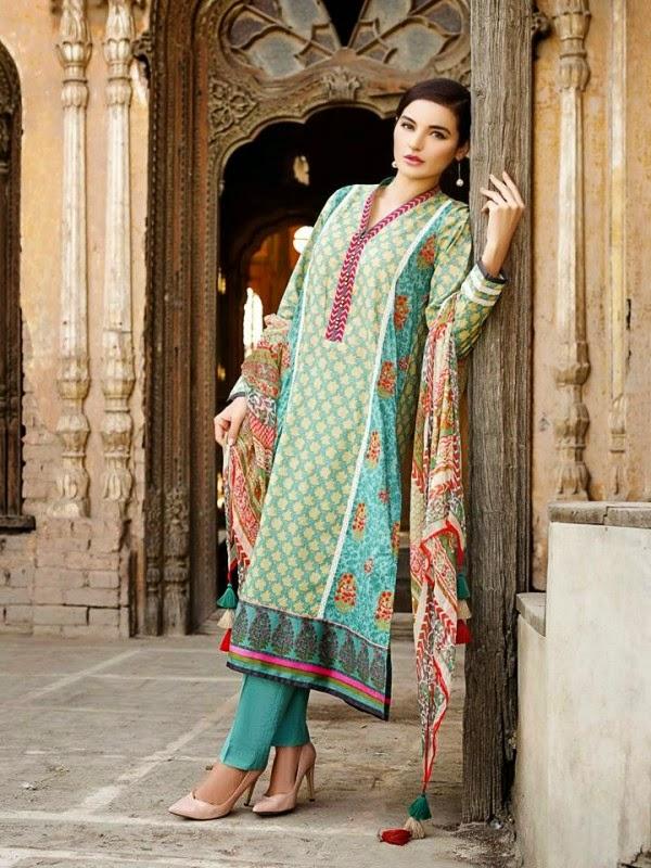 New Khaadi Spring Formal Wear Dresses 2015 2