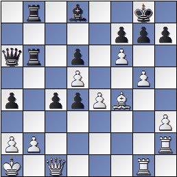 Partida de ajedrez Marín-Golmayo después de 30…a4, Barcelona 1926