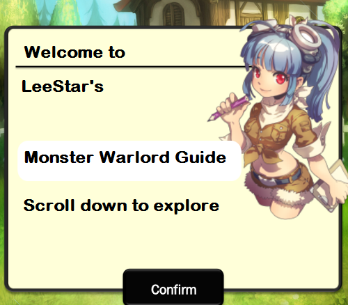 Guide for Monster Warlord