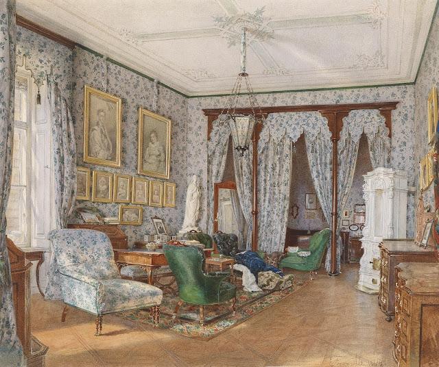 Franz von alt 1821 1914 austrian artist and - Biedermeier wohnzimmer ...