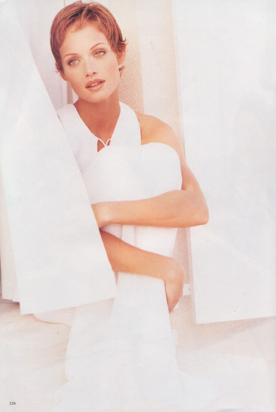 Photo source: Amber Valletta in Pleasure Island editorial   Harper's Bazaar US May 1993 (photography: Patrick Demarchelier)