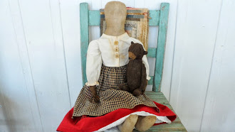 New Design By Norma Schneeman - Early 1800's Doll Body with leather hands. Head made by Norma.