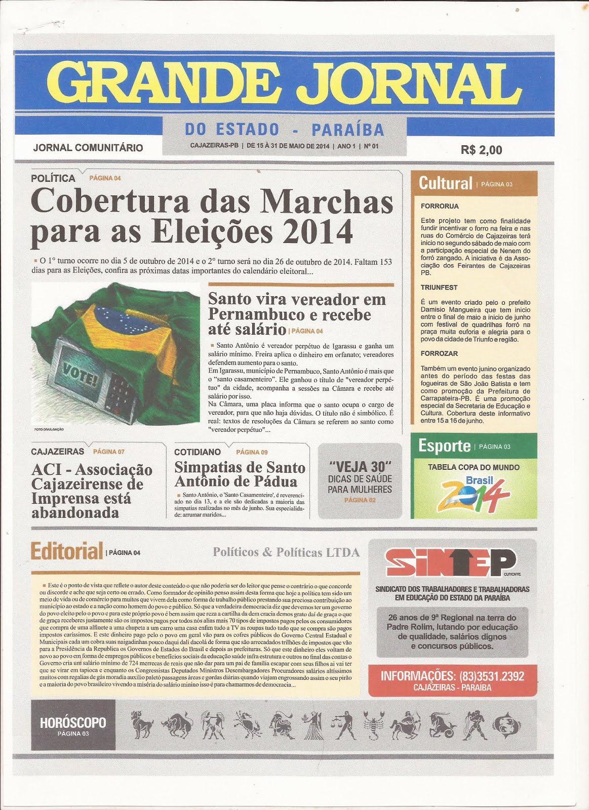 GRANDE JORNAL UMA DAS NOSSAS PUBLICAÇÕES  NA COBERTURA DAS ELEIÇÕES