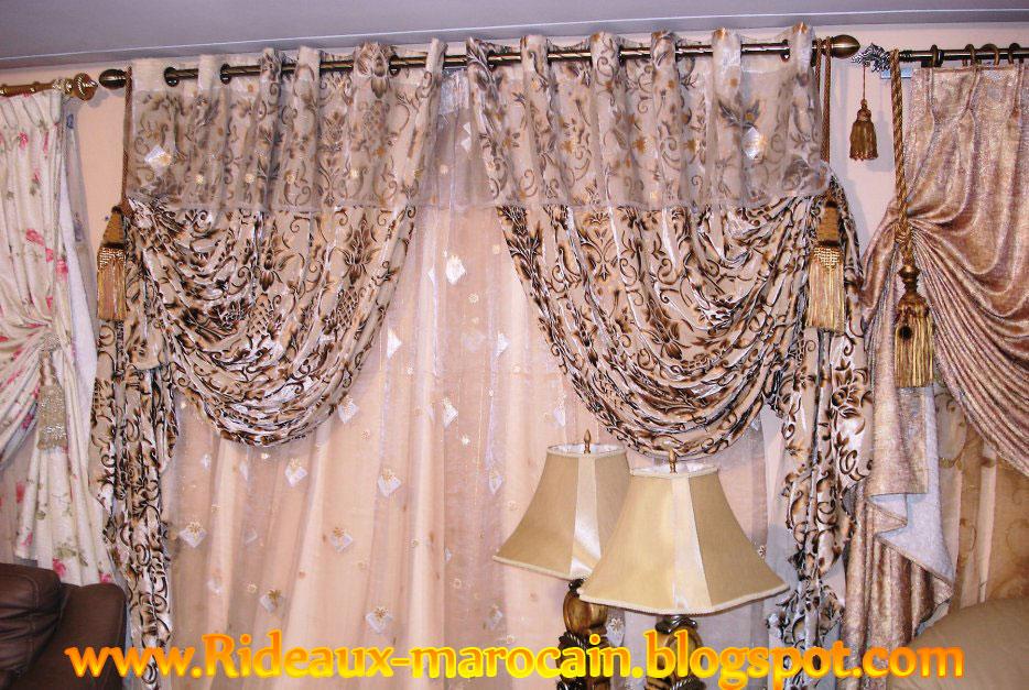 double rideaux marocain de derni res tendances d coration salon marocain moderne 2016. Black Bedroom Furniture Sets. Home Design Ideas