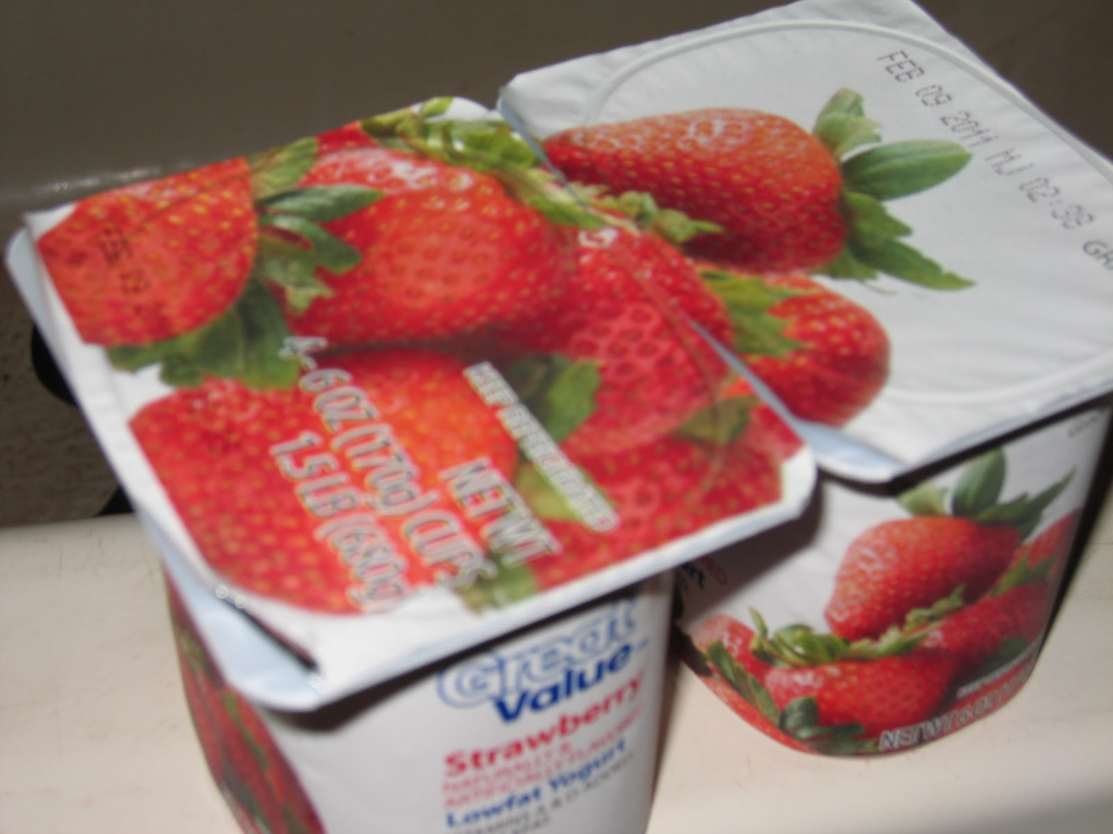 Dogs Eat Strawberry Yogurt