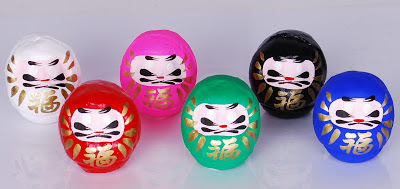 coloured daruma