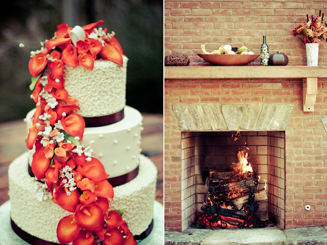 Fall Wedding Cake by Kelly Is Nice Photography - www.kellyisnice.com