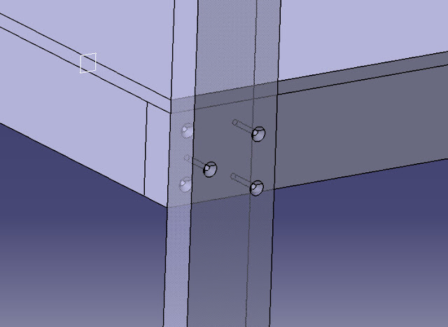 computer CAD shelf design, screw, wood, garage shelf, 2x4