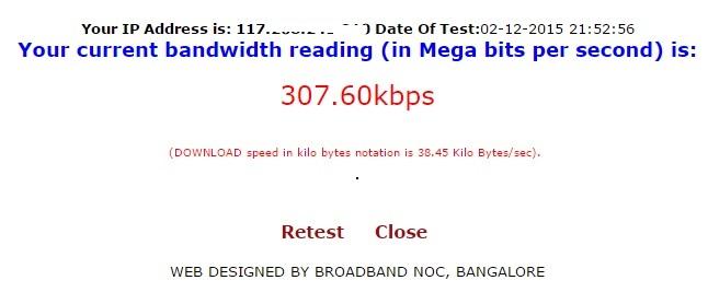 bsnl speed